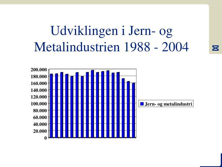 Udviklingen i Jern- og Metalindustrien 1988 - 2004