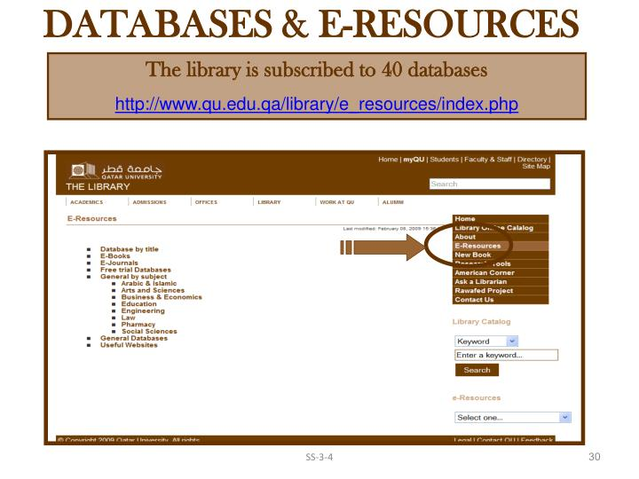 DATABASES & E-RESOURCES
