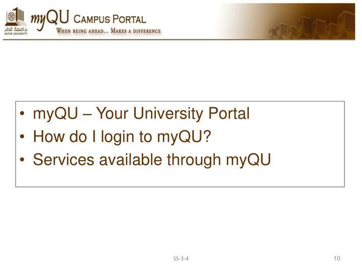 myQU – Your University Portal