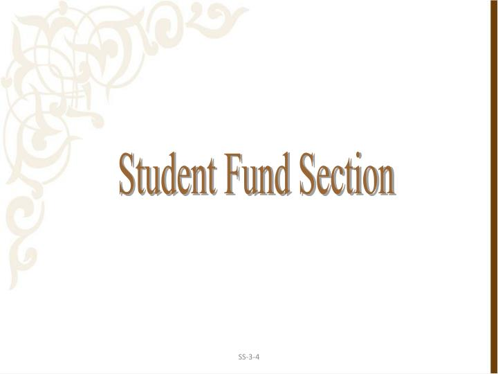 Student Fund Section
