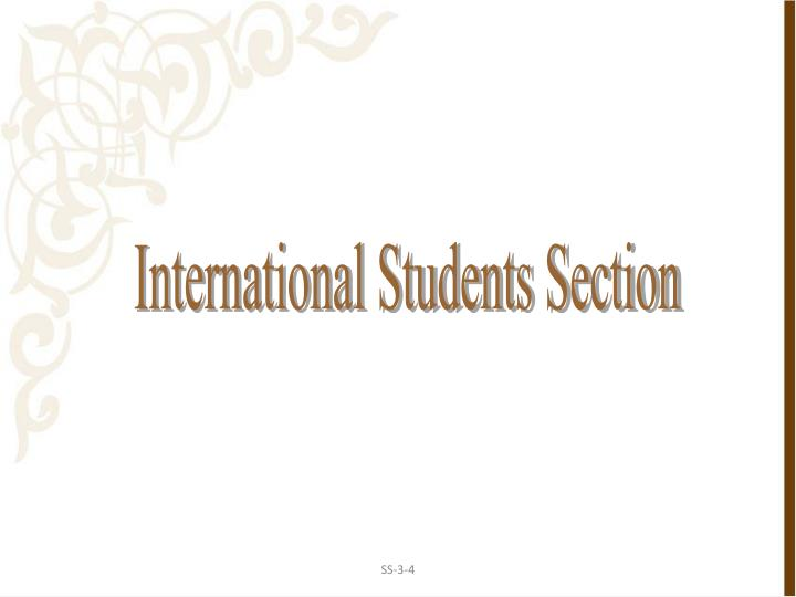 International Students Section