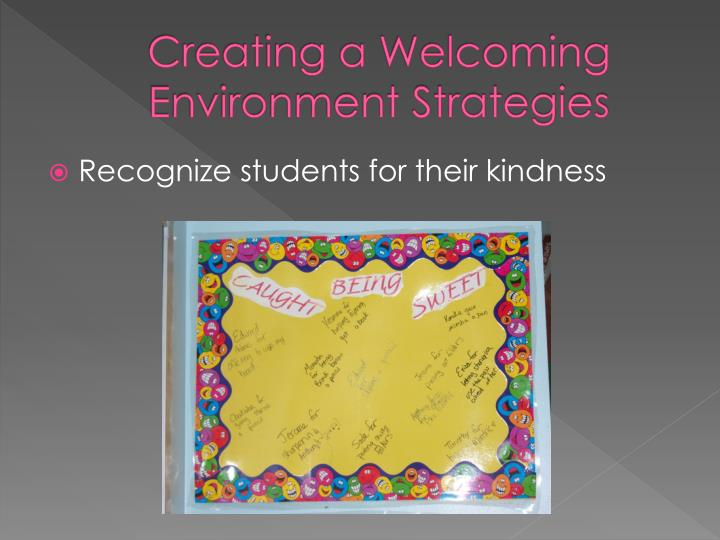 Creating a Welcoming Environment Strategies