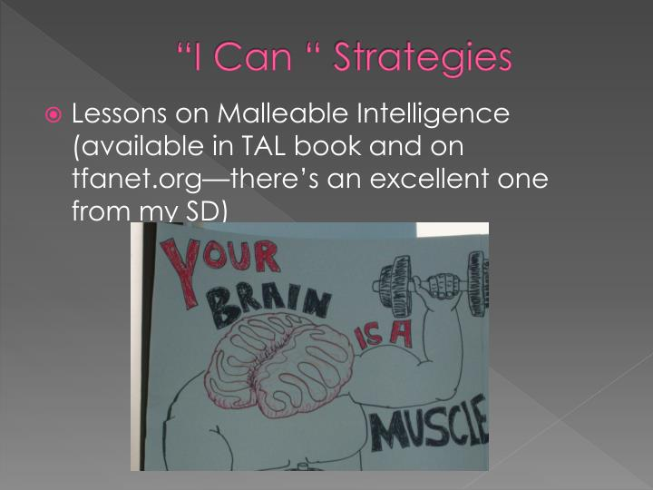 """I Can "" Strategies"