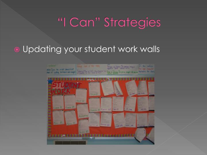 """I Can"" Strategies"