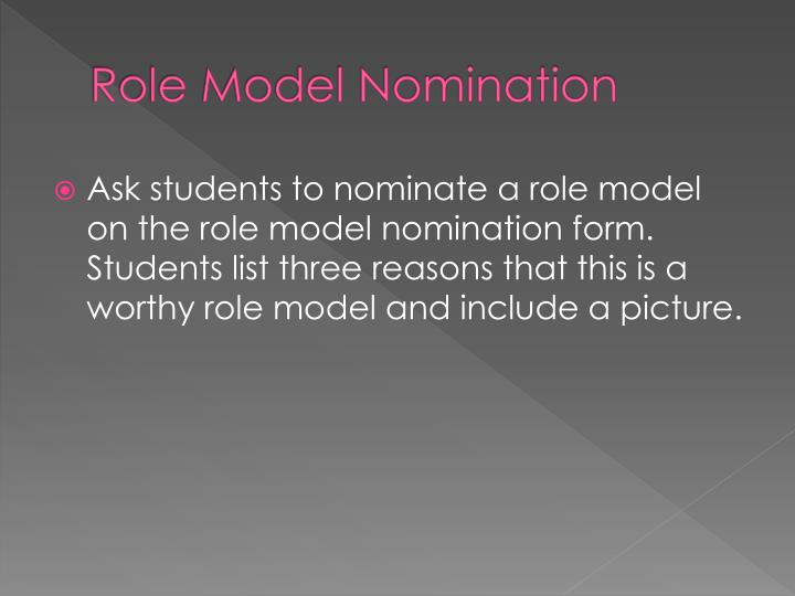 Role Model Nomination