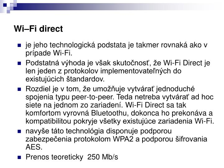 Wi–Fi direct