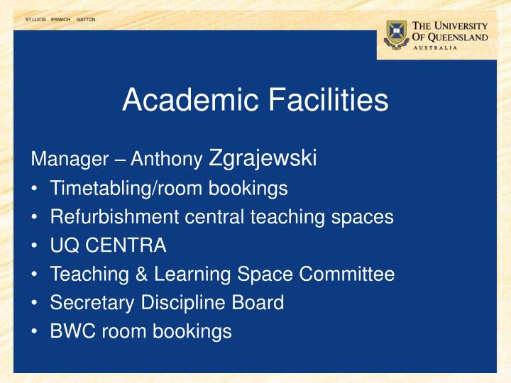 Academic Facilities