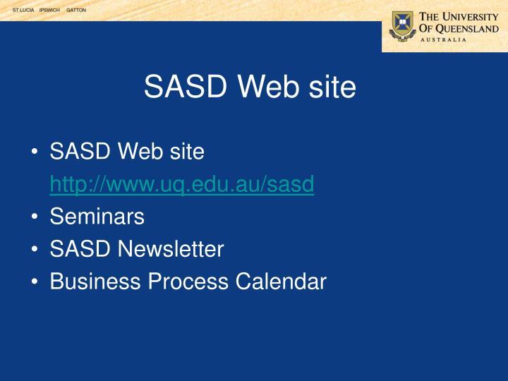 SASD Web site