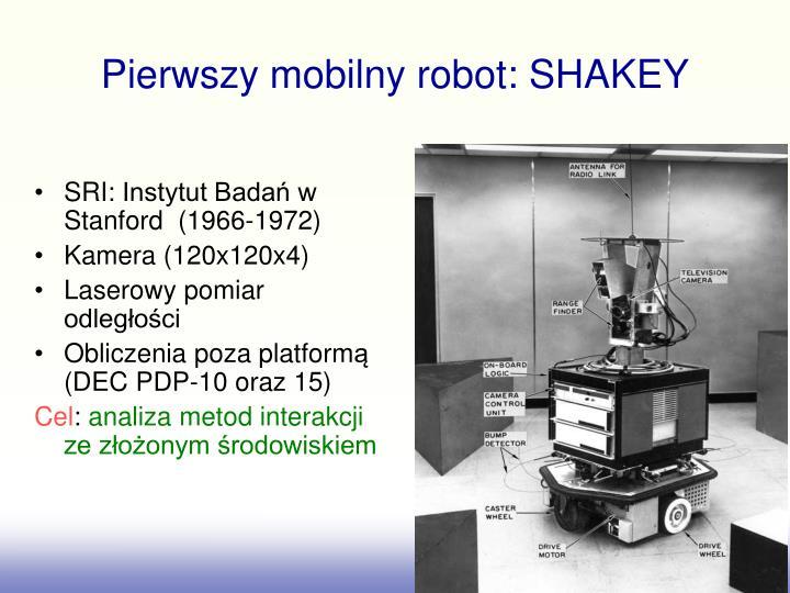 Pierwszy mobilny robot