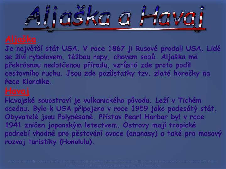 Aljaška a Havaj