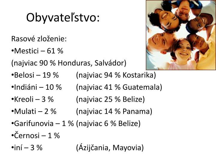 Obyvateľstvo: