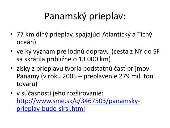 Panamský prieplav: