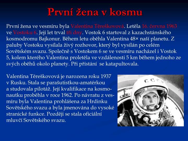 První žena v kosmu
