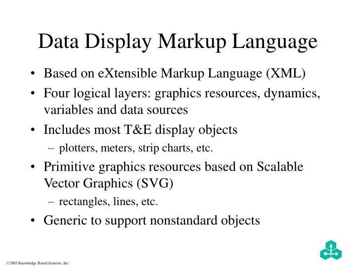Data Display Markup Language