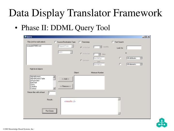 Data Display Translator Framework