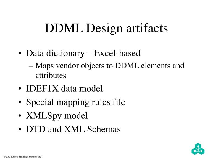 DDML Design artifacts