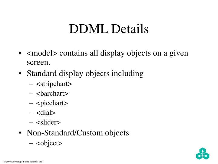 DDML Details