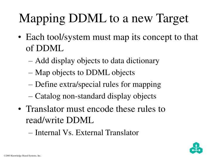 Mapping DDML to a new Target
