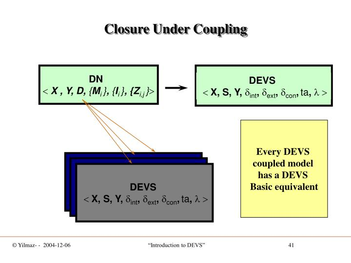 Closure Under Coupling