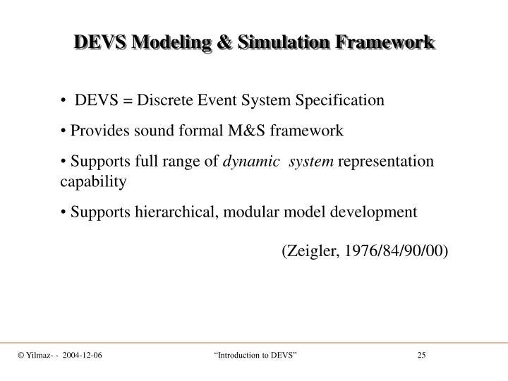 DEVS Modeling & Simulation Framework