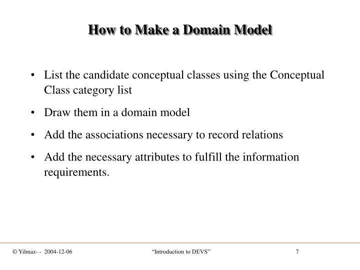 How to Make a Domain Model