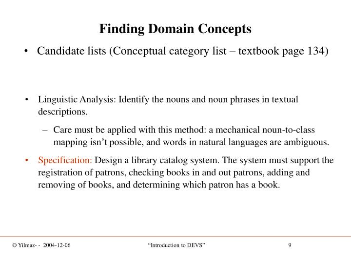 Finding Domain Concepts