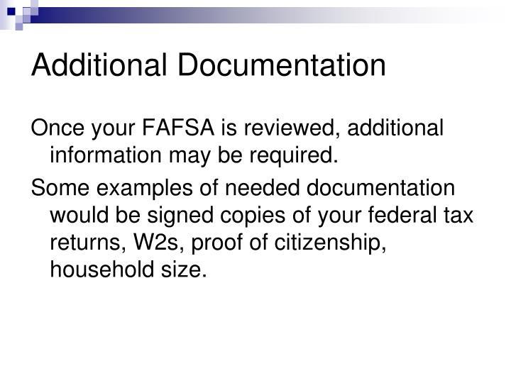 Additional Documentation