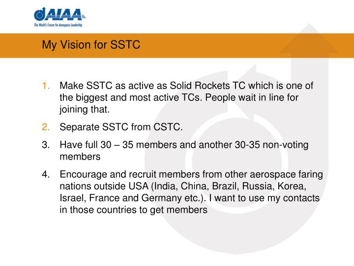 My Vision for SSTC