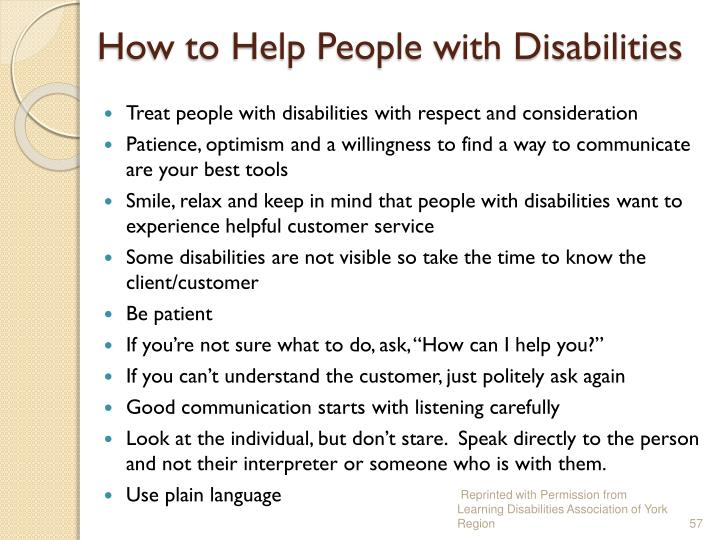 How to Help People with Disabilities