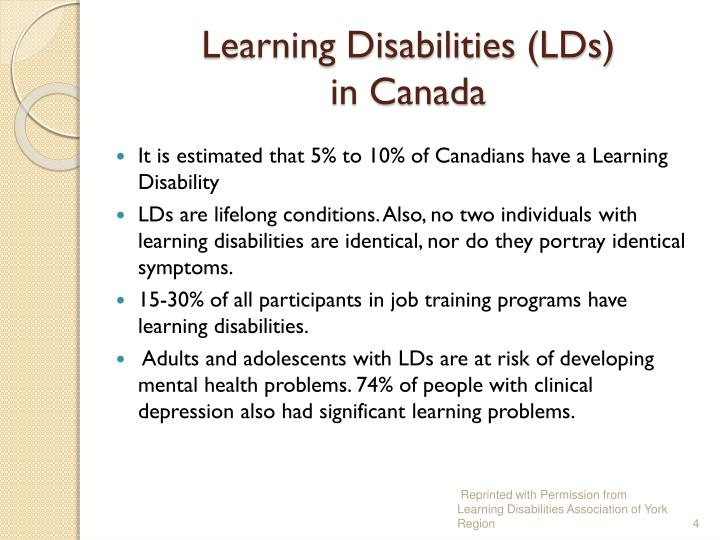 Learning Disabilities (LDs)