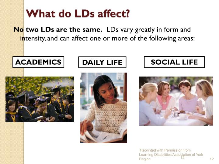 What do LDs affect?