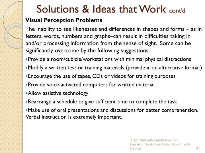 Solutions & Ideas that Work