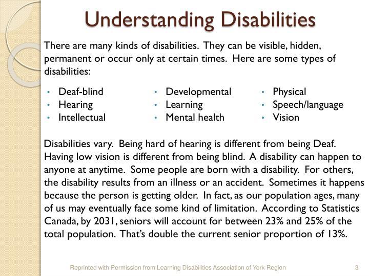 Understanding Disabilities