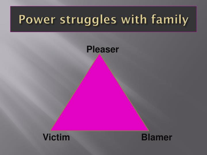 Power struggles with family