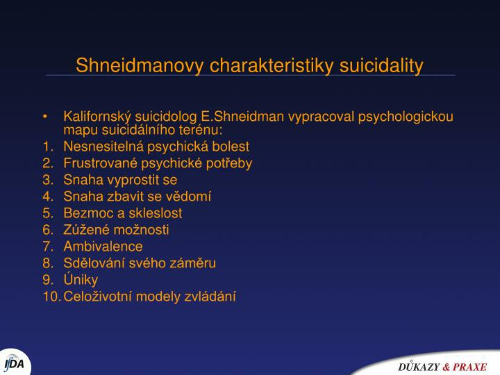 Shneidmanovy charakteristiky suicidality