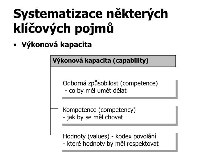 Výkonová kapacita (capability)