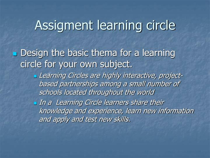 Assigment learning circle