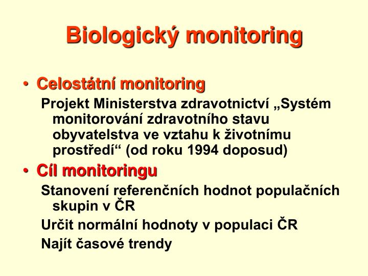 Biologick monitoring