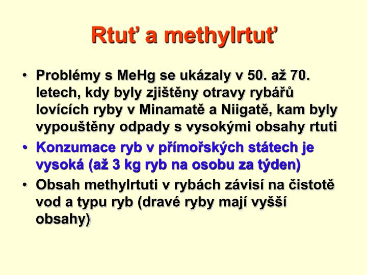 Rtuť a methylrtuť