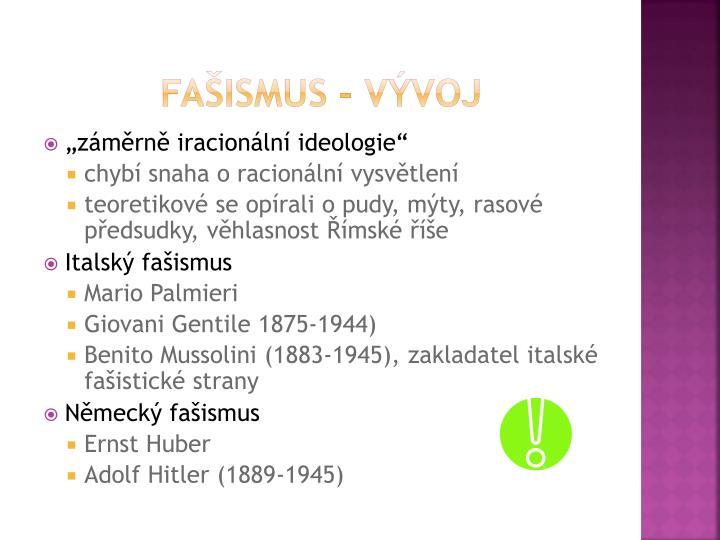 Fašismus - vývoj