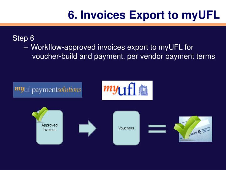 6. Invoices Export to myUFL