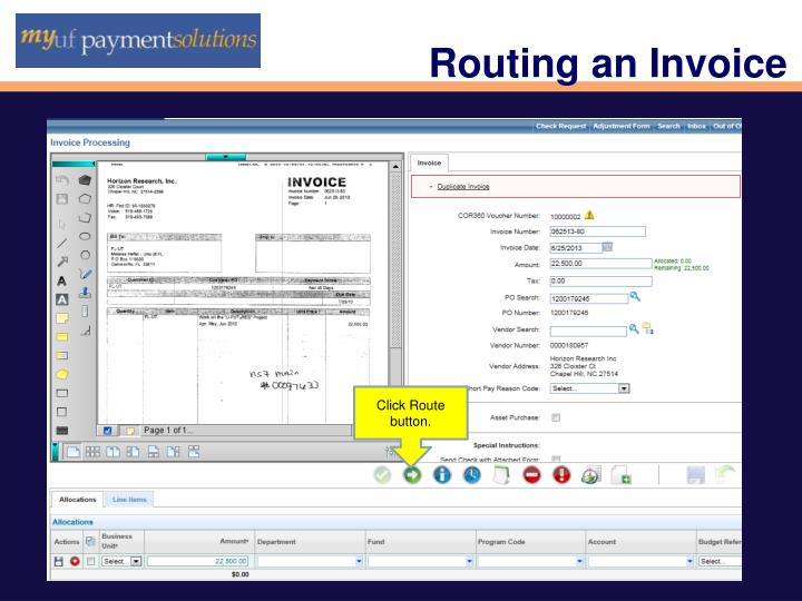 Routing an Invoice