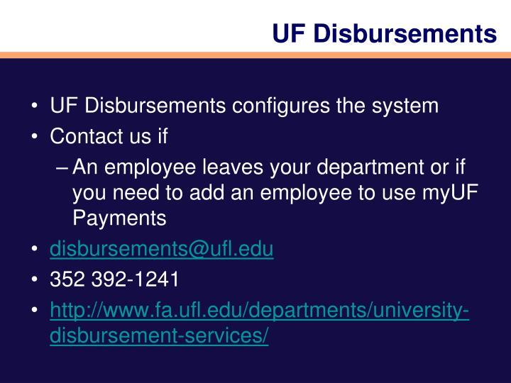 UF Disbursements