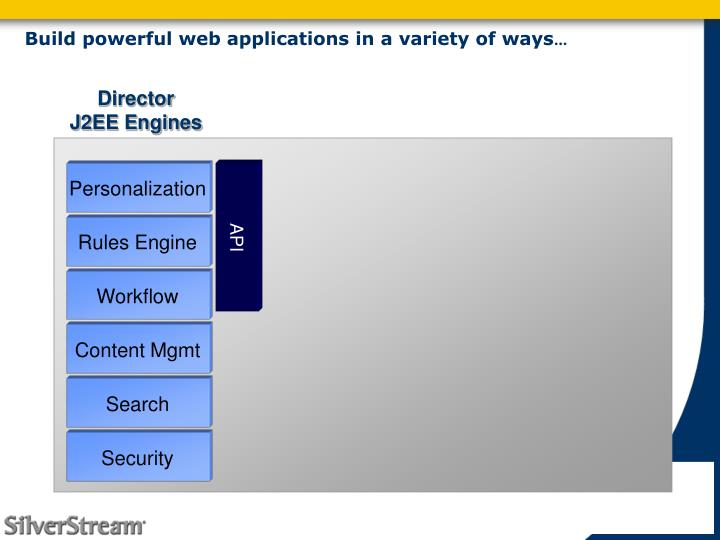 Build powerful web applications in a variety of ways