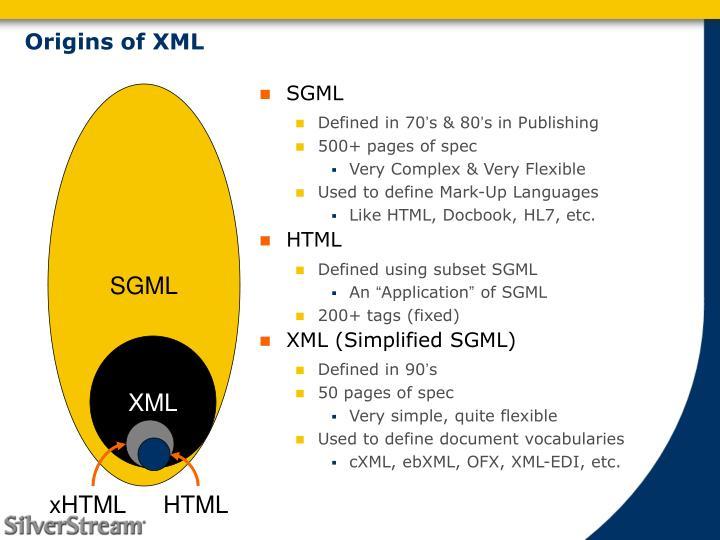 Origins of XML