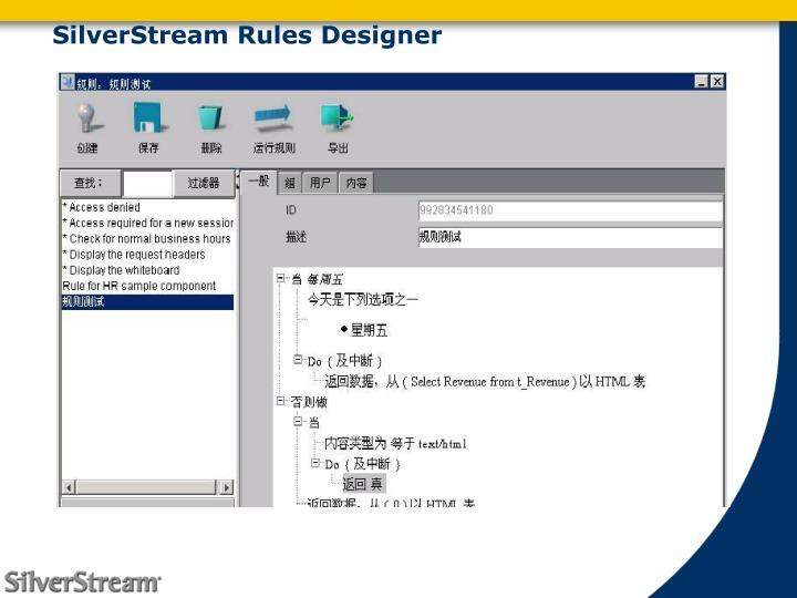 SilverStream Rules Designer