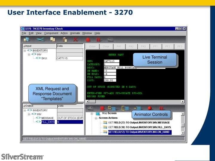 User Interface Enablement - 3270