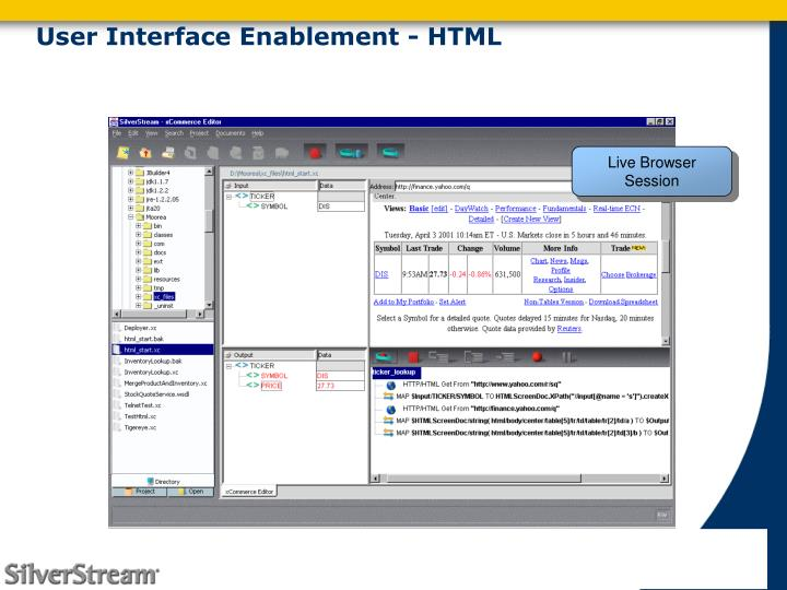 User Interface Enablement - HTML