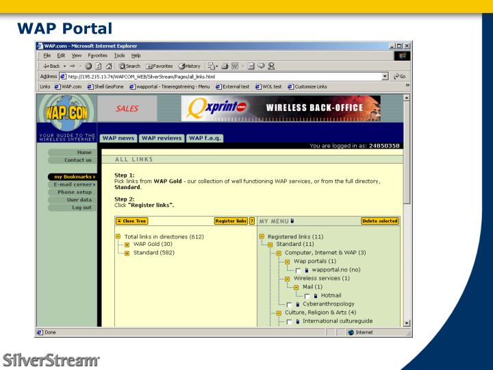 WAP Portal