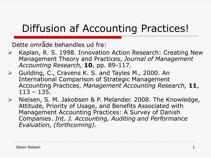Diffusion af Accounting Practices!
